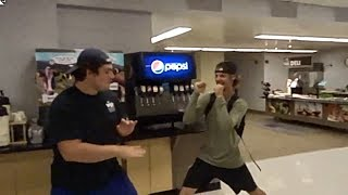 INSANE COLLEGE FIGHT CAUGHT ON CAMERA !!!