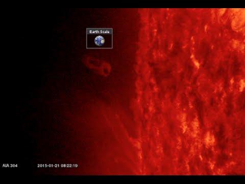 Solar Plasma, Solar Wind Intensifies   S0 News January 21, 2015