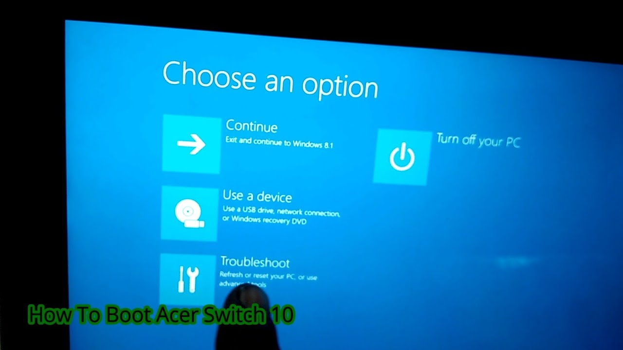 reset acer aspire switch 10