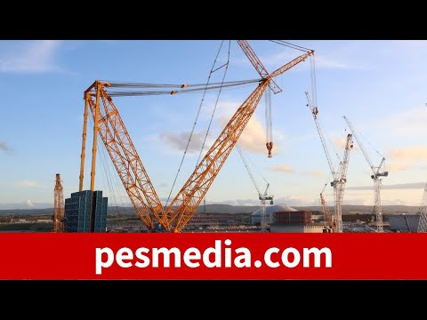 World's largest crane at Hinkley Point C nuclear plant site