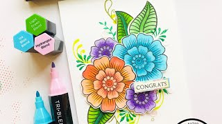 Cardmaking with Altenew | How to color with Alcohol Markers | Step by Step | Ruchi's Crafeteria