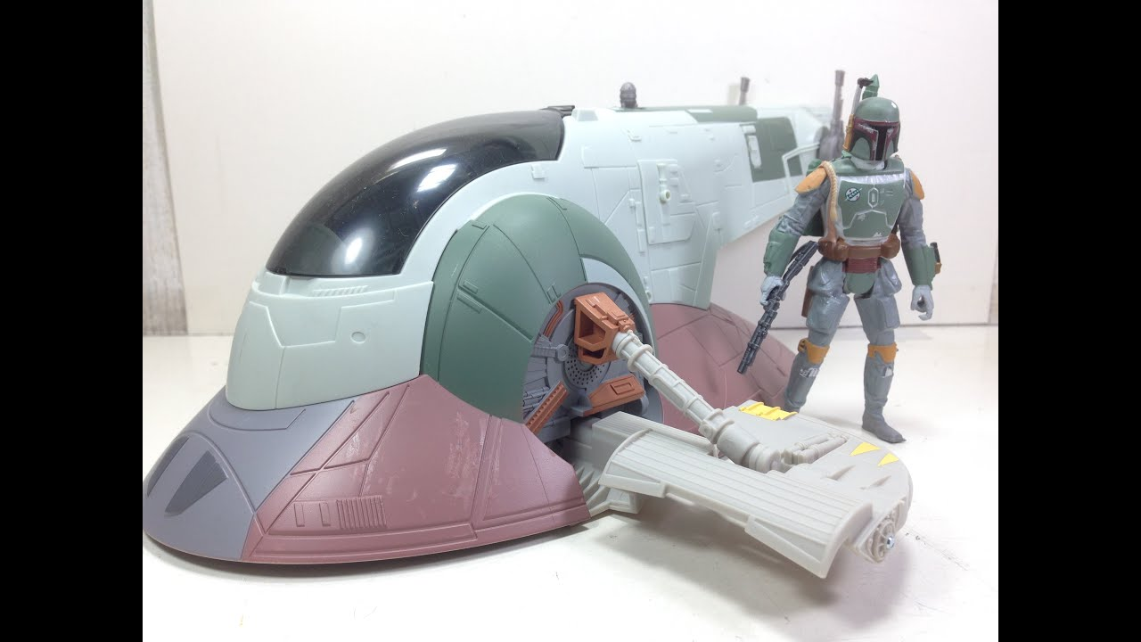 Star Wars Force Awakens Empire Strikes Back Slave 1 With Boba Fett Review Youtube