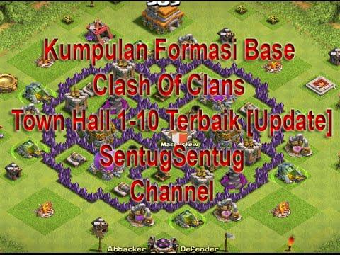 Formasi Clash Of Clans Town Hall 1 10 Terbaik Update 2015 Youtube