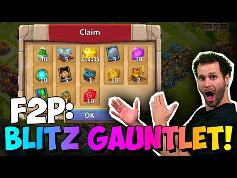 JT's F2P Blitz Gauntlet FINAL I Want The REWARDS! Castle Clash