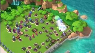 Boom Beach — CHINA again: my base was raided by Jason A.K.萧✌ and Allure 嘉嘉 (7 boosted ices)