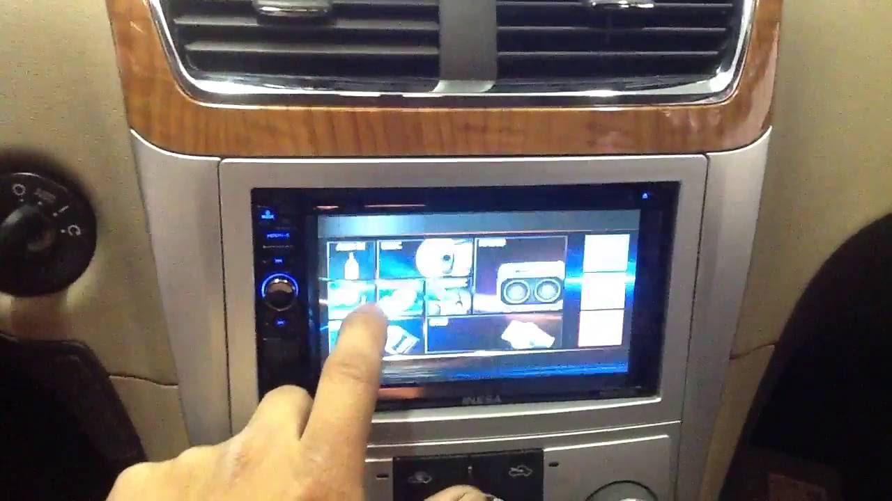 2011 Chevy Malibu. NESA Nsd-627b. Bluetooth. Double din touchscreen. Sony speakers - YouTube
