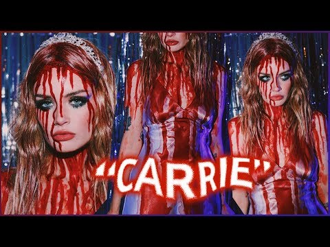 CARRIE Halloween Costume + Makeup Tutorial! ASHTOBERFEST IV thumbnail