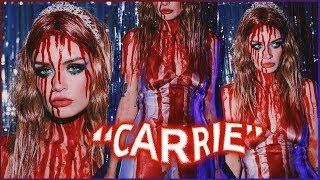 CARRIE Halloween Costume + Makeup Tutorial! ASHTOBERFEST IV