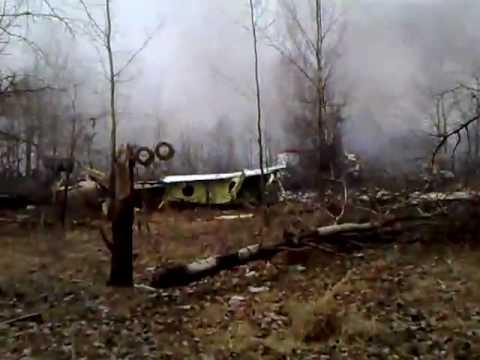 Polish president plane crash. 10 April 2010, Smolensk, Russia.