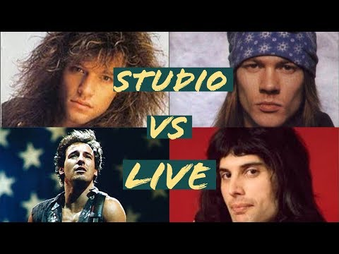 Rock singers studio VS live