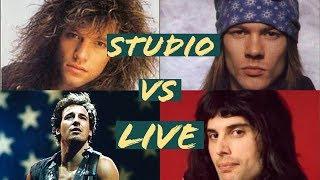 Rock singers studio VS live