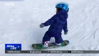 One-year-old girl skis her way to Internet stardom