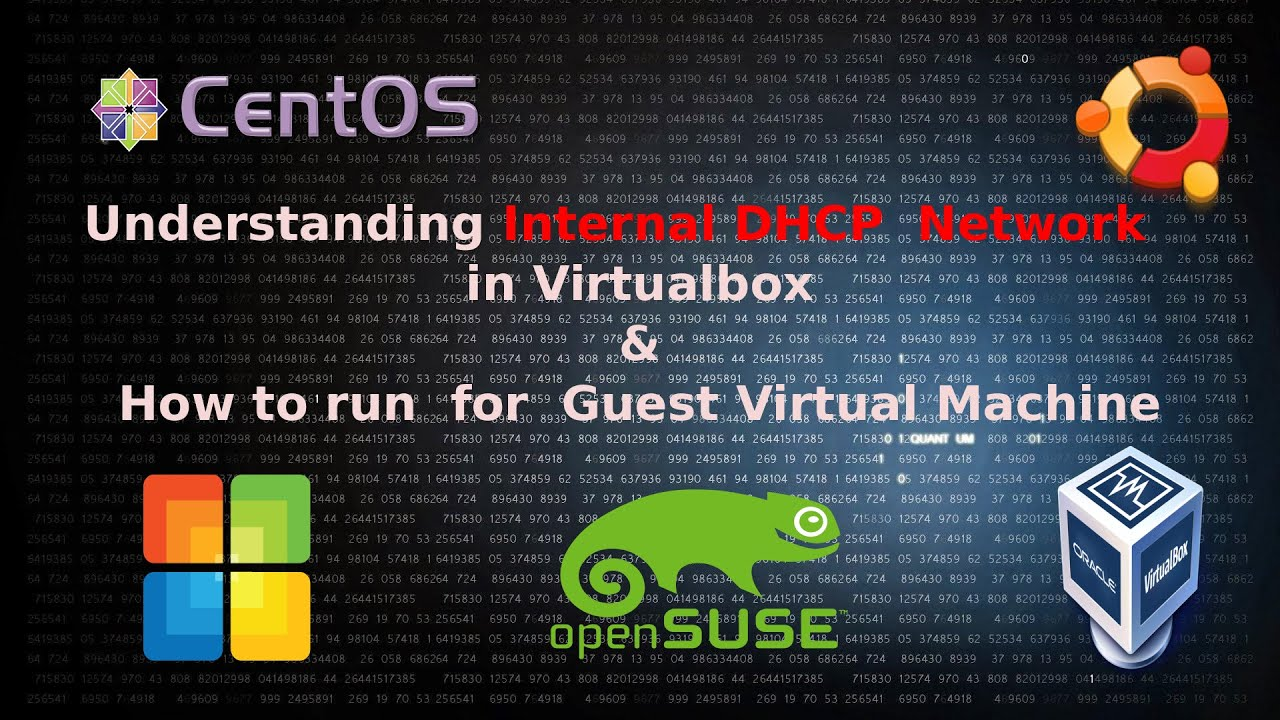 Understanding internal DHCP network and how to run in Guest Virtual Machine