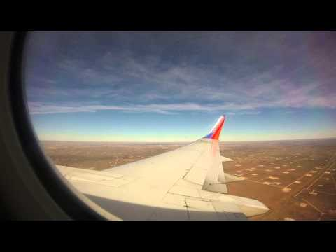 Southwest Airlines 737-3H4 landing at Midland Airport