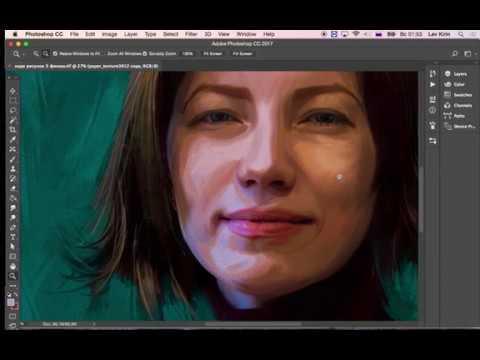 видео: Имитация Фактуры холста в  фотошопе. digital