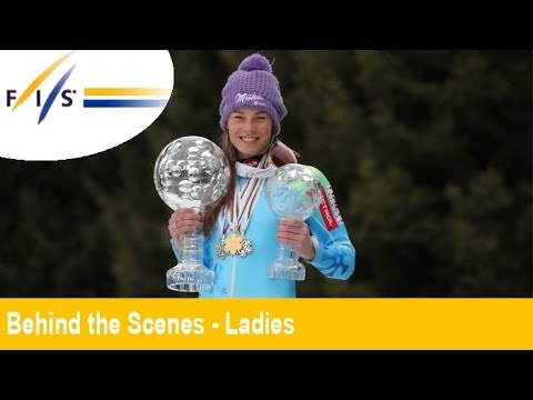 TINA MAZE GLOBES Photoshoot - AUDI FIS Alpine Ski World Cup - Behind the Scenes - Womens