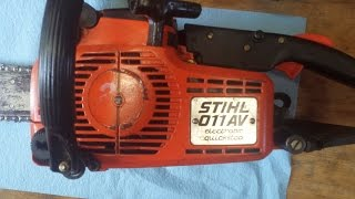 Stihl Chainsaw Hesitation Fixed with Carburetor Mixture Adjustment
