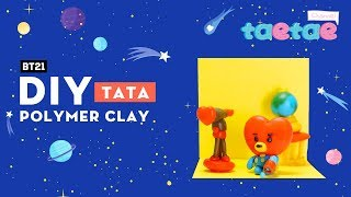 DIY TATA bt21 polymer clay miniature - New BT21 FIGURE - Taetae