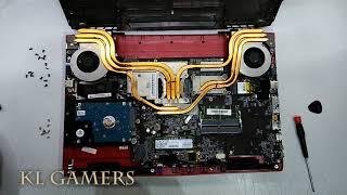 msi Dirty GAMING Notebook Laptop GE62MVR 7RG Apache Pro Cleanup Vacuum Apply Thermal Paste 2019