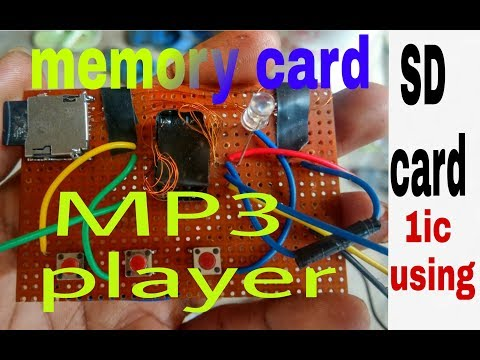 how to make micro sd card mp3 player usins only 1 ic1845CE5 /मेमोरी कार्ड से गाना चलाएं(100% working