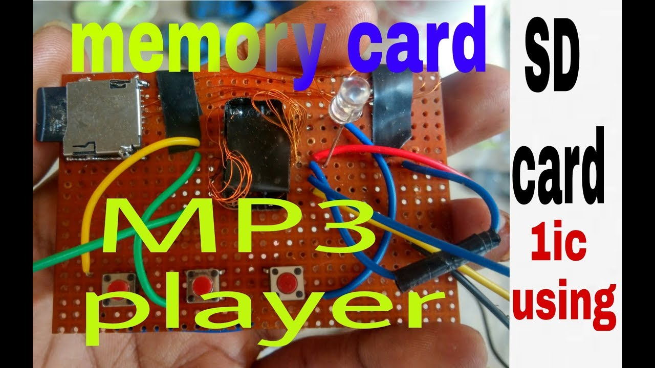 How To Make Micro Sd Card Mp3 Player Usins Only 1 Ic1845ce5 And Receiver Circuit On Remote Control Car Diagram 100 Working Rk Electronics Project