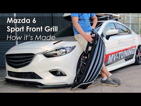 Mazda 6 Sport Front Grill By MV-TUNING / Решетка радиатора Mazda 6
