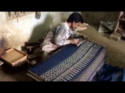 Azrak block printing in Rajasthan, India.