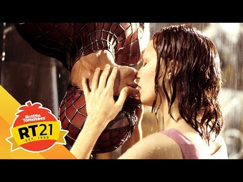 21 Most Memorable Movie Moments: The Upside-Down Kiss from Spider-Man (2002)
