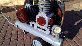 Компрессор СО-7Б небольшой обзор накачка родного ресивера ( compressor )