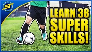 Learn 38 SUPER Football Skills ★ SkillTwins/Ronaldo/Neymar Skills