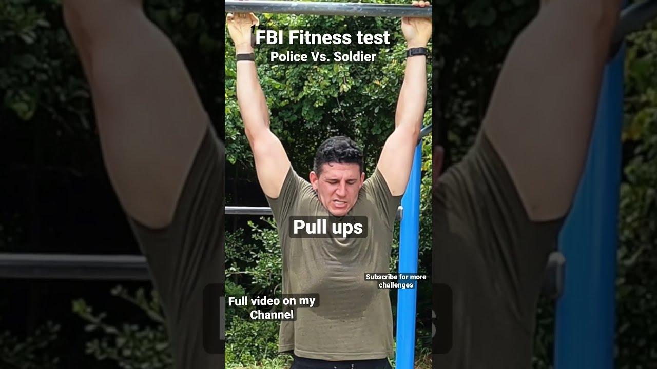 FBI FITNESS TEST   Soldier Vs. Police officer #shorts