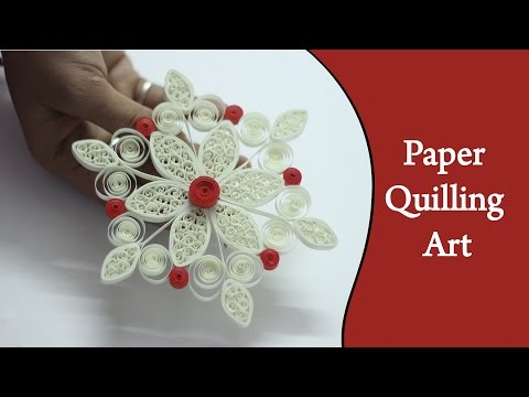 Ruchi's art | DIY | how to make cool white flowerusing Quilling Strips