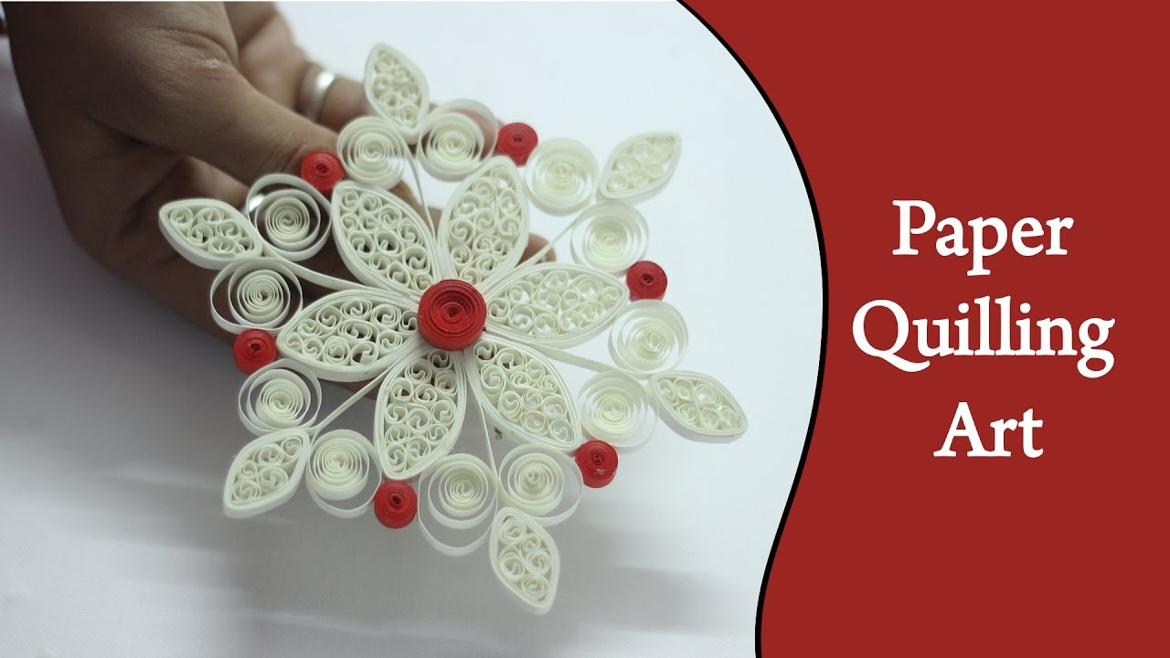 Ruchi 39 s art diy how to make cool white flower using for How to use quilling strips