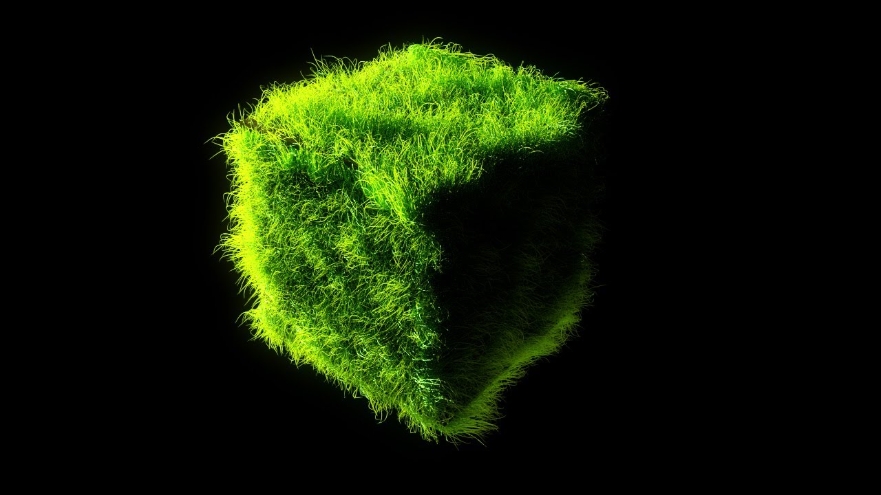 cycles test 26 - strands grass cube  blender 2 6