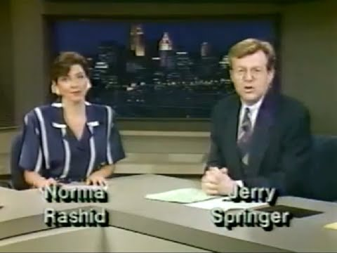 80s Old School Jerry Springer as a Cincinnati  Anchor before the TV