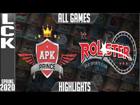 APK Vs KT Highlights ALL GAMES | LCK Spring 2020 W7D4 | APK Prince Vs KT Rolster