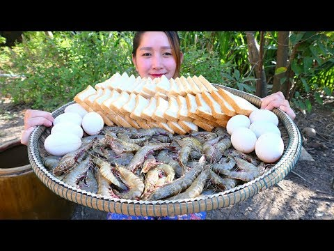 Yummy Crispy Shrimp Cooking Bread – Crispy Shrimp Recipe – Cooking With Sros
