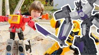 Трансформеры: Оптимус Прайм, Бамблби и их секретная база!