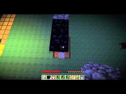 Minecraft Tutorial: How To Make A Nether Portal Without Flint & Steel