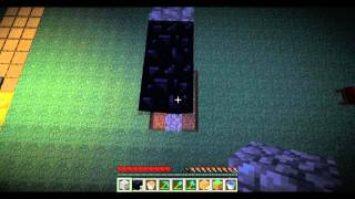 minecraft tutorial how to make a nether portal without flint steel