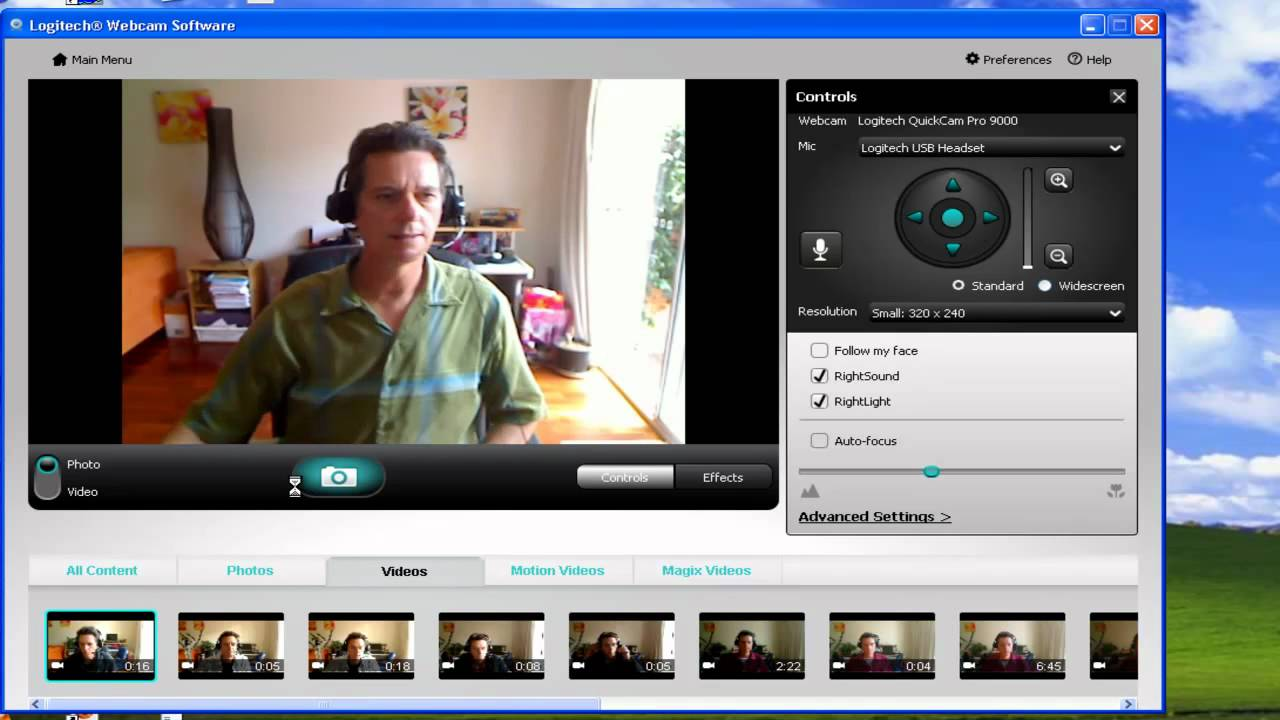 Logitech Webcam Record Video And Take Photos Youtube