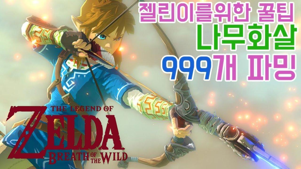 [나무화살 999개파밍!]젤린이를 위한꿀팁! 나무화살파밍 젤다의전설: 야생의숨결 The legend of zelda :breath of the wild   GOTY 실황 에이사 #1