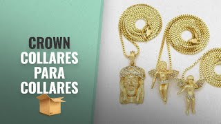 Top 10 Ventas Crown 2018: Crown Gold-Tone Three Pieces Micro Jesus and Angelsl Pendant Necklaces