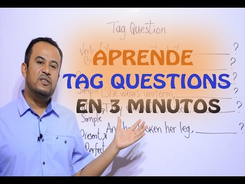COMO Usar TAG QUESTIONS En INGLES