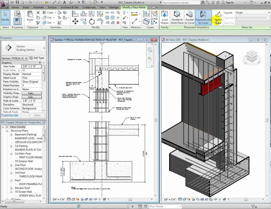 Revit Structure 2012 Enhancements Rebar Placement And