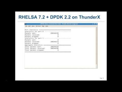 DPDK running on ARMv8 (Mobile World Congress 2016)