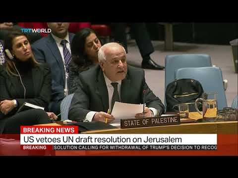 Palestine Ambassador to the UN criticises US veto on Jerusalem