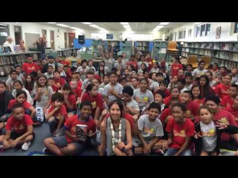 Famous Author influencer Christie Hsiao visits Hilo Union elementary school, Hawaii