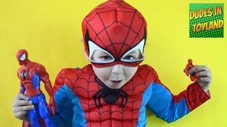 Spiderman toys review + Super hero action figures collection videos for kids