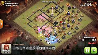 CWL 11v12 - CoC TH11 war attack replay 2019 new meta - how to beat TH12 is clan wars. Clash of Clans
